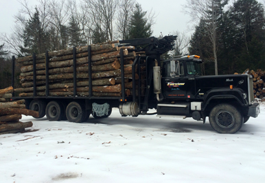 Mack Truck with Logs